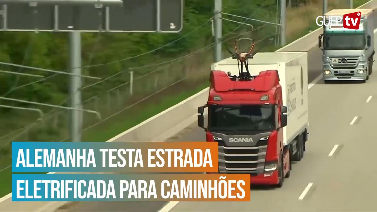 Alemanha testa estrada eletrificada para caminhões